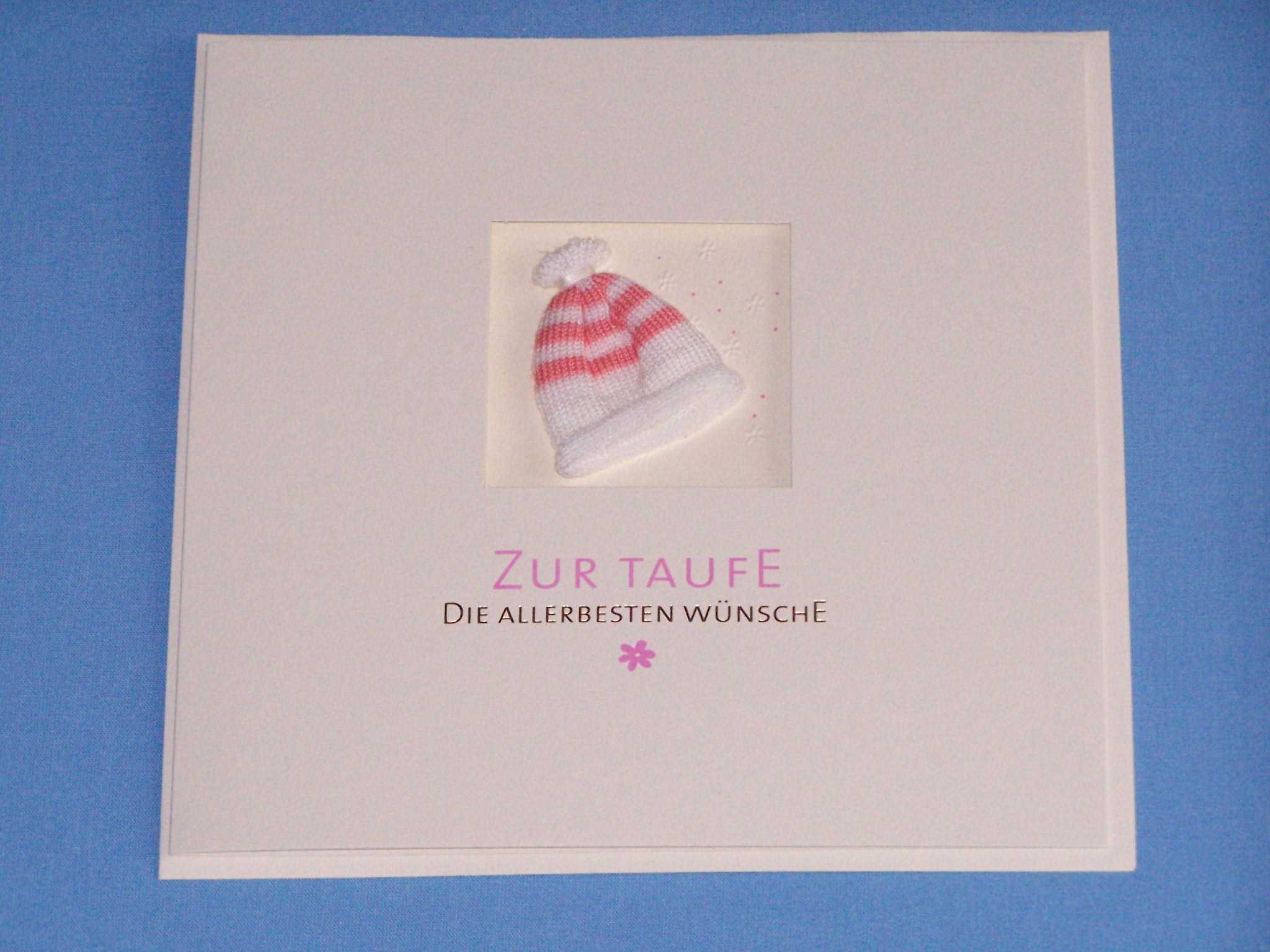 v transehe design gro karte zur taufe rosa der kleine taufladen ralf zydek. Black Bedroom Furniture Sets. Home Design Ideas